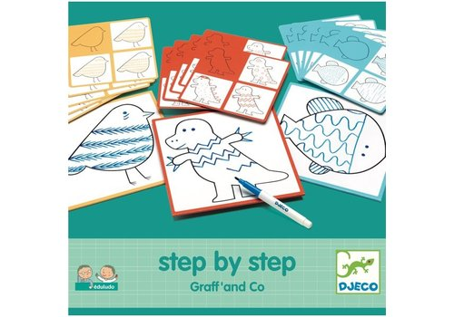 Djeco Djeco Step by Step Tekenset Graff' and Co