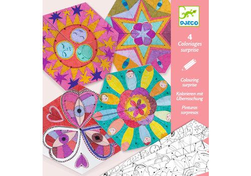 Djeco Djeco Colouring Suprise Constellation Mandalas