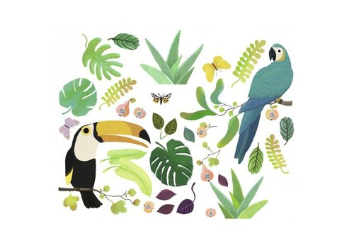 Djeco Djeco Wall Stickers Jungle