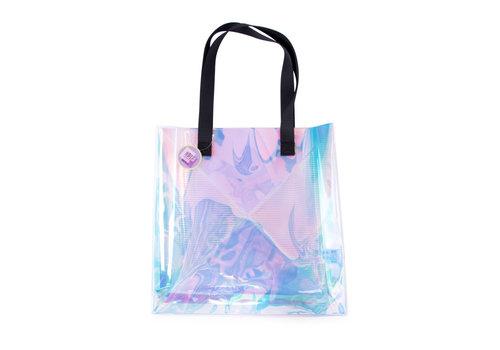Helio Ferretti Helio Ferretti Holografic Transparent Tote Bag
