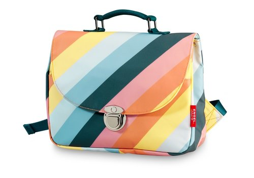 Engel Engel School Bag Stripe Rainbow Small