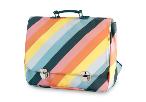 Engel Engel School Bag Stripe Rainbow Large