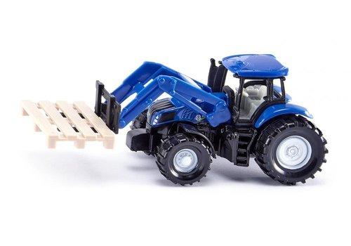 Siku Siku Tractor met Palletvork en Pallet