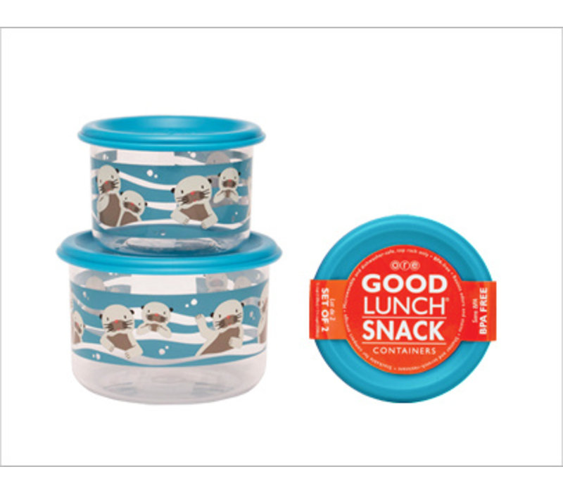 Sugarbooger Good Lunch Snack Containers Set of 2 Baby Otter