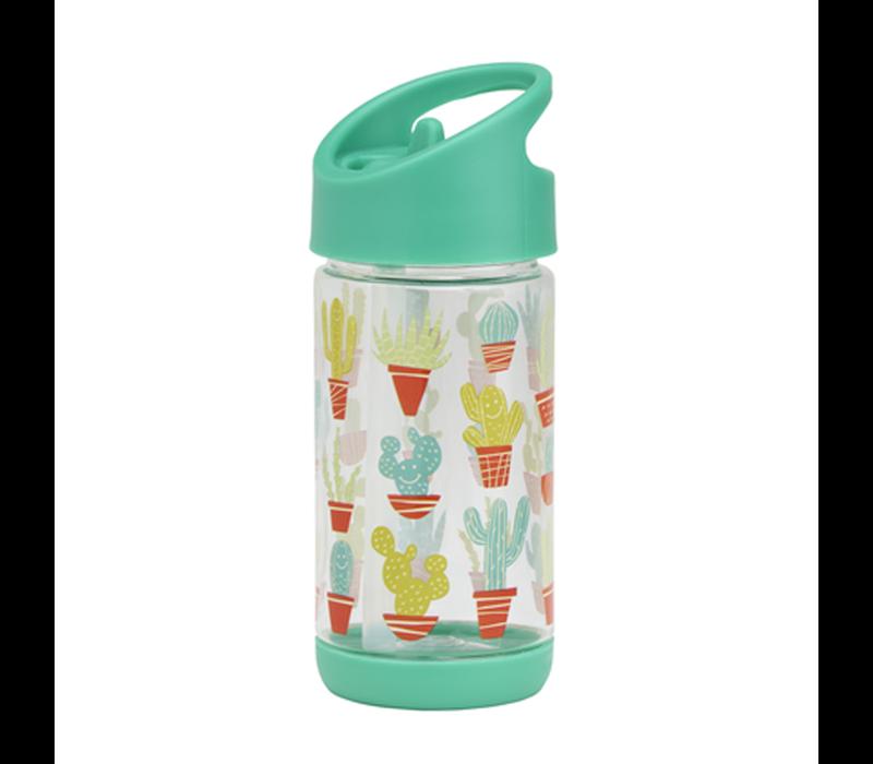 Sugarbooger Flip & Sip Drinking Bottle Happy Cactus