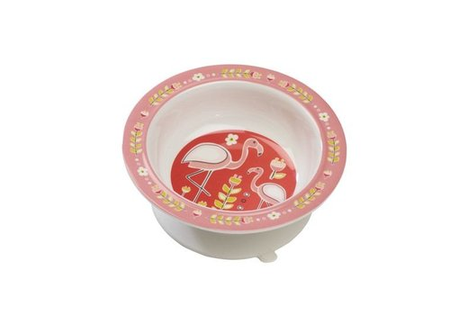 Sugarbooger Sugarbooger Suction Bowl Flamingo