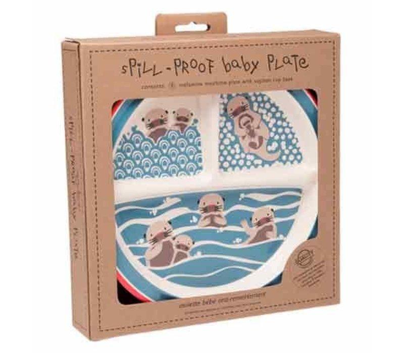Sugarbooger Bord Met Zuignap Baby Otter