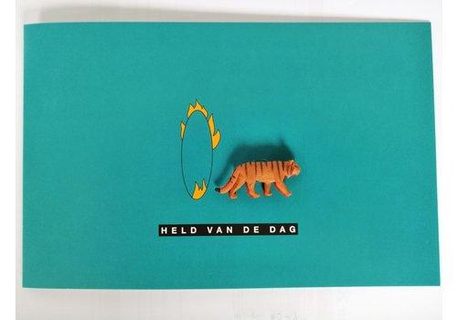 Leuke Kaartjes Leuke Kaartjes Greeting Card Tiger Held van de Dag