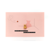 Leuke Kaartjes Leuke Kaartjes Greeting Card Little Bear Grote Avonturen Beginnen Klein (Pink)