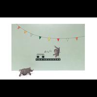 Leuke Kaartjes Greeting Card Rhino Feestneushoorn