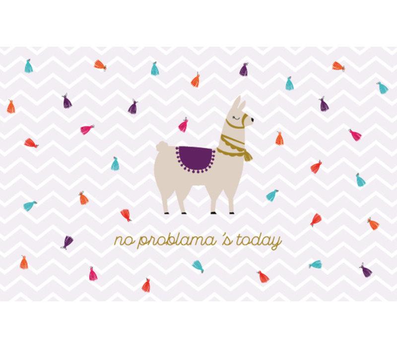 Leuke Kaartjes Greeting Card No Problema's Today