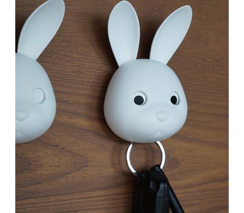 Qualy Bella Bunny Sleutelhanger Wit