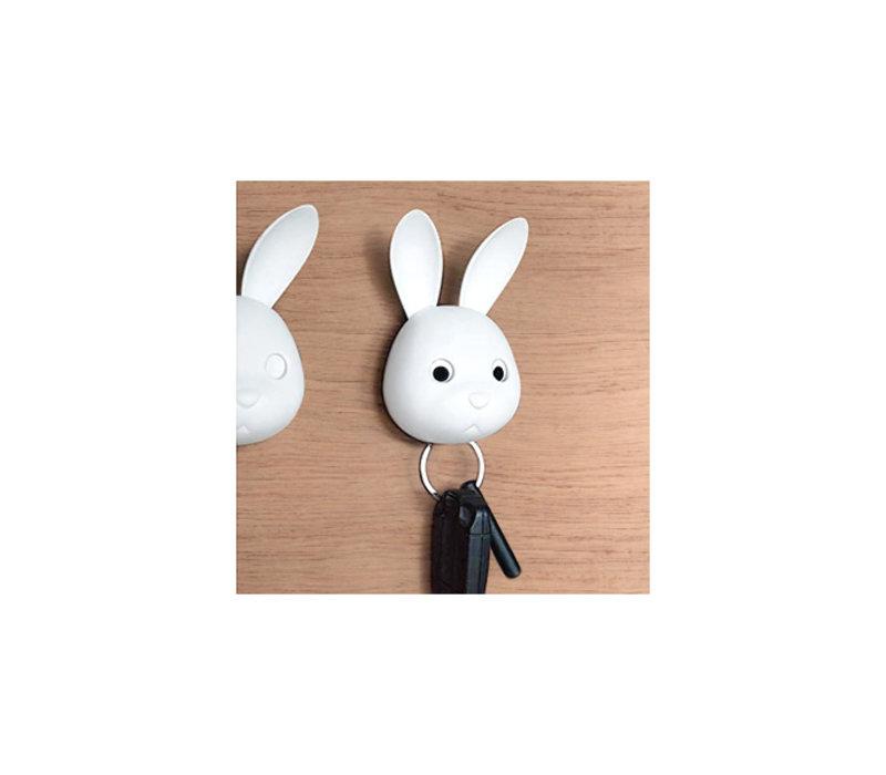 Qualy Bella Bunny Key Holder White