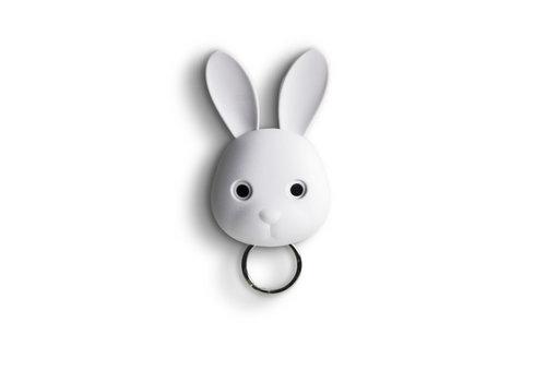 Qualy Qualy Bella Bunny Porte-Clés Blanc