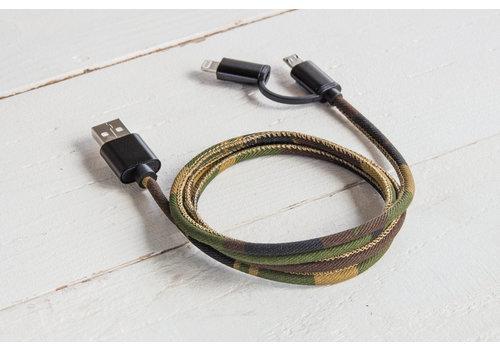 Suck UK Suck UK USB Oplaadkabel GSM Camouflagekleuren