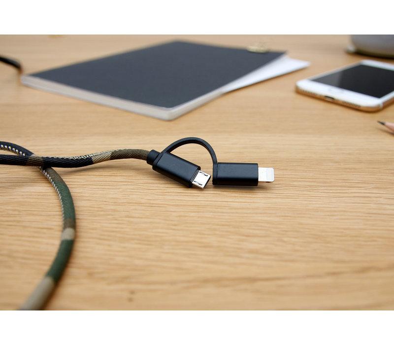 Suck UK USB Oplaadkabel GSM Camouflagekleuren