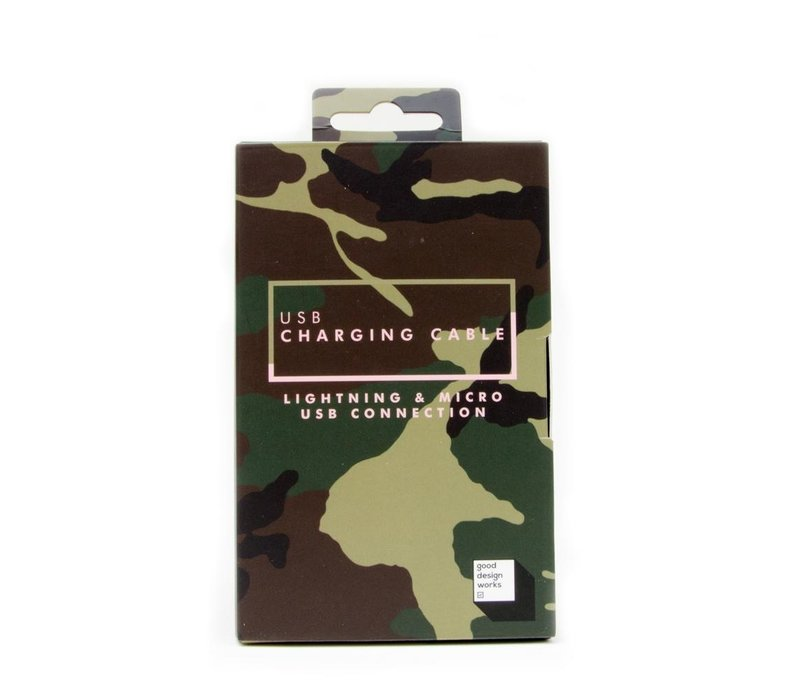 Suck UK USB Charging Cable Camouflage Edition