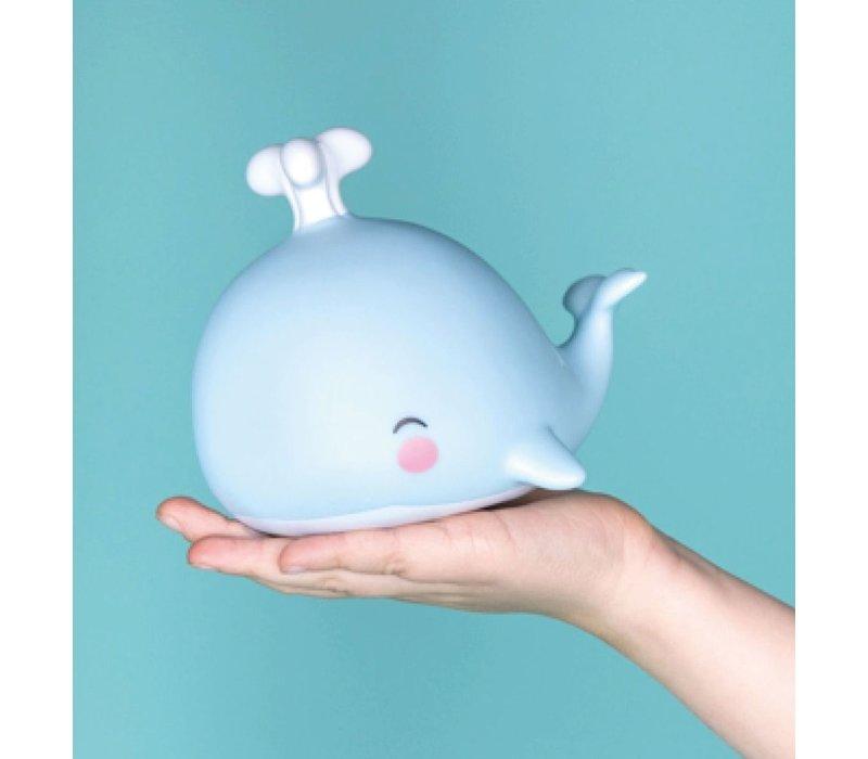 A Little Lovely Company Mini Lamp Walvis