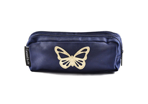 Caramel & Cie Caramel & Cie Pencil Case Blue Butterfly