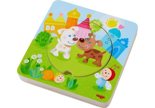 Haba Haba Houten Puzzel Kakelbonte Jonge Dieren