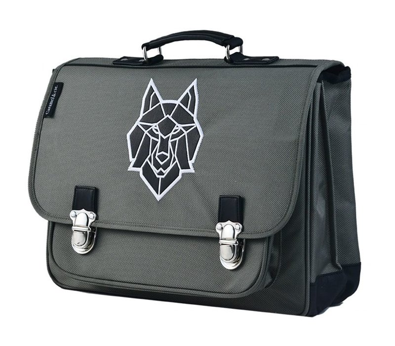 Caramel & Cie Schoolbag The Wolf Large