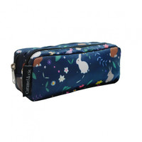 Caramel & Cie Pencil Case Blue Rabbits