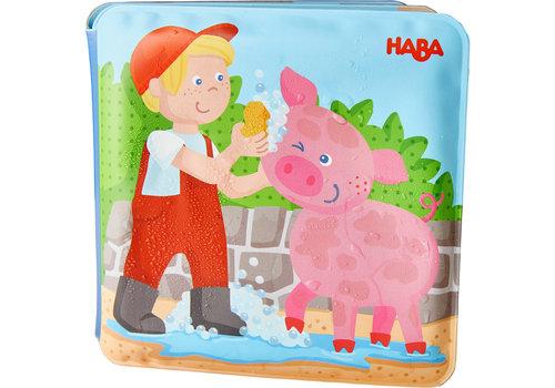Haba Haba Bath Book Farm Animal Wash Day
