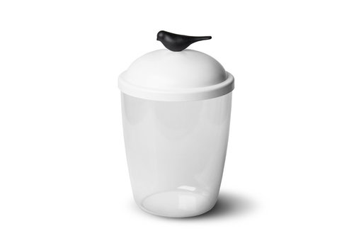 Qualy Qualy Sparrow Ice Bucket White-Black