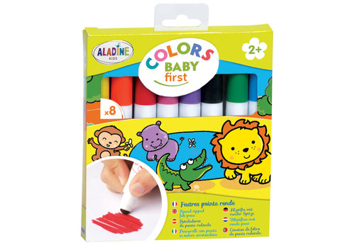 Aladine Aladine Colors Baby First Felt Pens with Round Tip