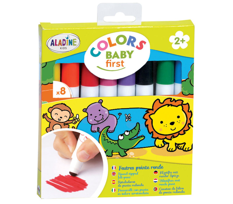 Aladine Colors Baby First Felt Pens with Round Tip