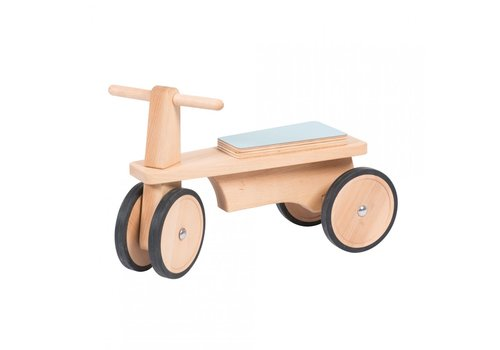 Moulin Roty Moulin Roty Wooden push Bike Light blue