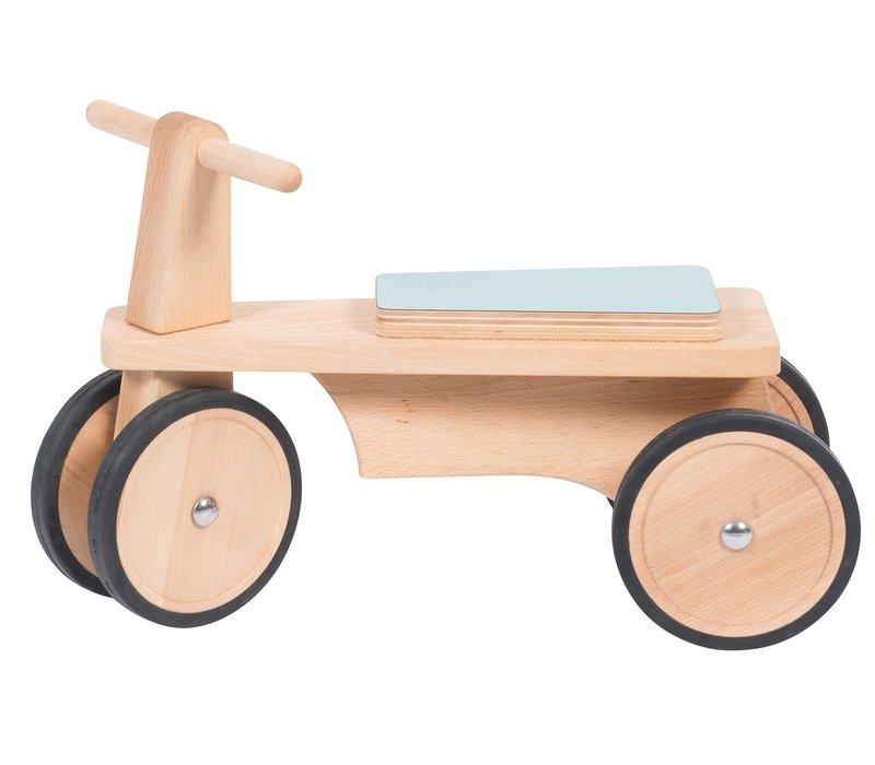 Moulin Roty Wooden push Bike Light blue