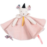 Moulin Roty 'Il Était Une Fois' Pacifier Comforter Pink Mouse