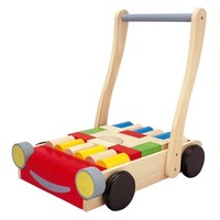 Plan Toys Baby Walker Car with Building Blocks