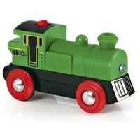 Brio Small Green Locomotive On Batteries