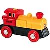 Brio Brio Kleine Geel/Rode Locomotief Op Batterijen