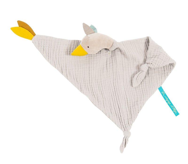 Moulin Roty Baby Comforter Taupe Goose Olga 'Le Voyage d'Olga'