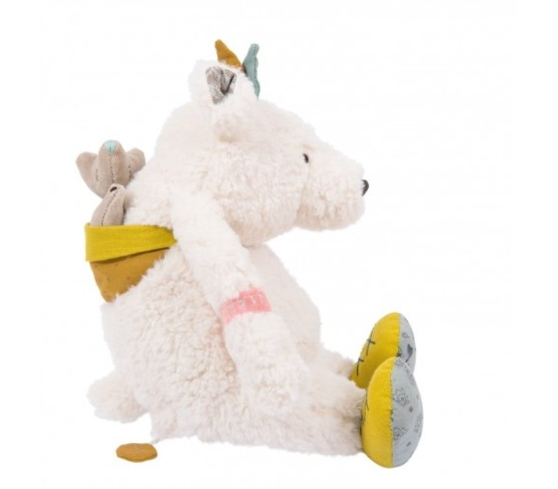 Moulin Roty Music Cuddly Toy Bear Pom 'Le Voyage d'Olga'