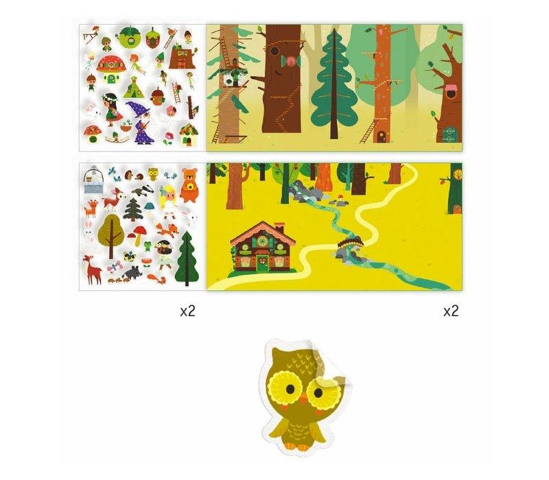 Djeco Stickerverhalen Toverbos