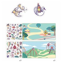 Djeco Sticker Stories The Funfair