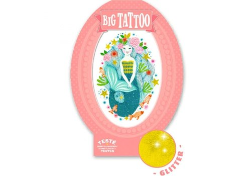 Djeco Djeco Big Tattoo Mermaid Aqua Blue