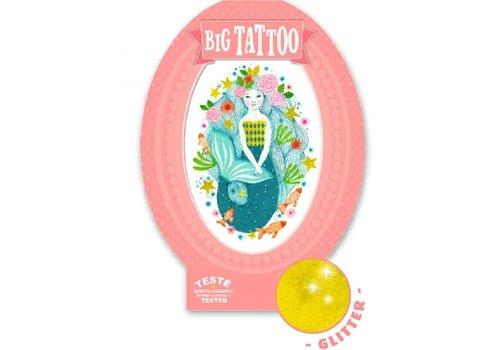 Djeco Djeco Big Tattoo Zeemeermin Aqua Blauw