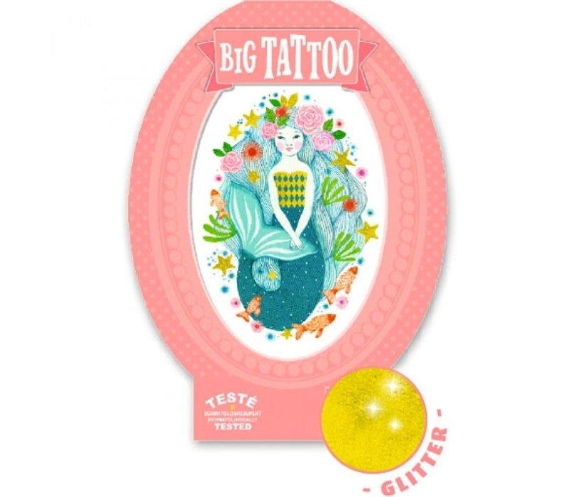 Djeco Big Tattoo Zeemeermin Aqua Blauw