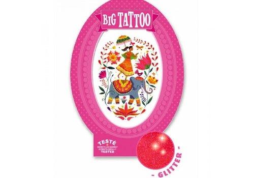 Djeco Djeco Big Tattoo India Rosa