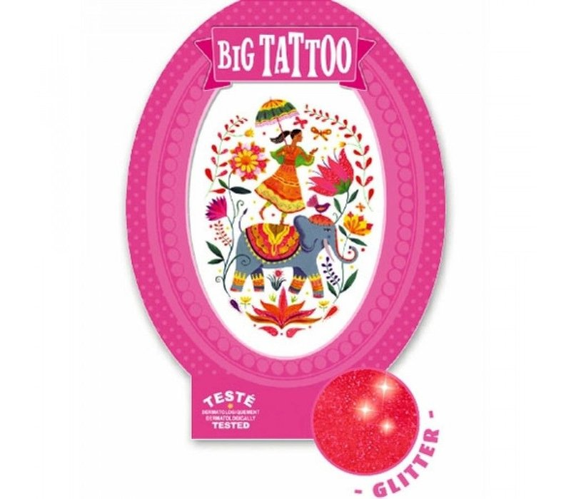 Djeco Big Tattoo India Rosa