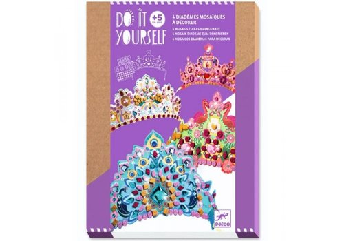 Djeco Djeco Do It Yourself 4 Mosaics Tiaras to Decorate Princesses