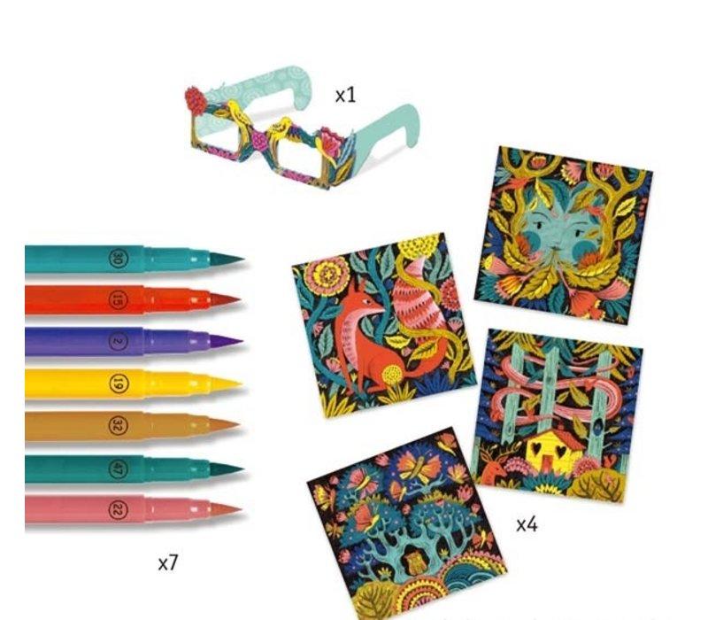 Djeco 3D-Kleuren Fantasiebos