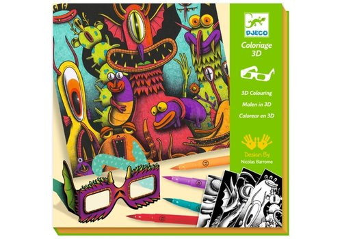 Djeco Djeco 3D Colouring Funny Freaks
