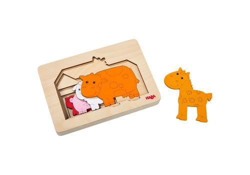 Haba Haba Wooden Puzzle Farm Animals