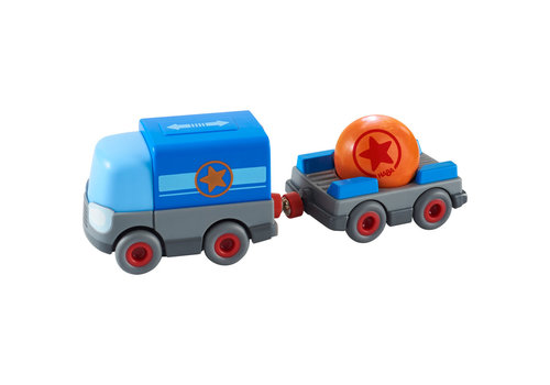 Haba Haba Kullerbü Play Track Battery Truck with Trailer